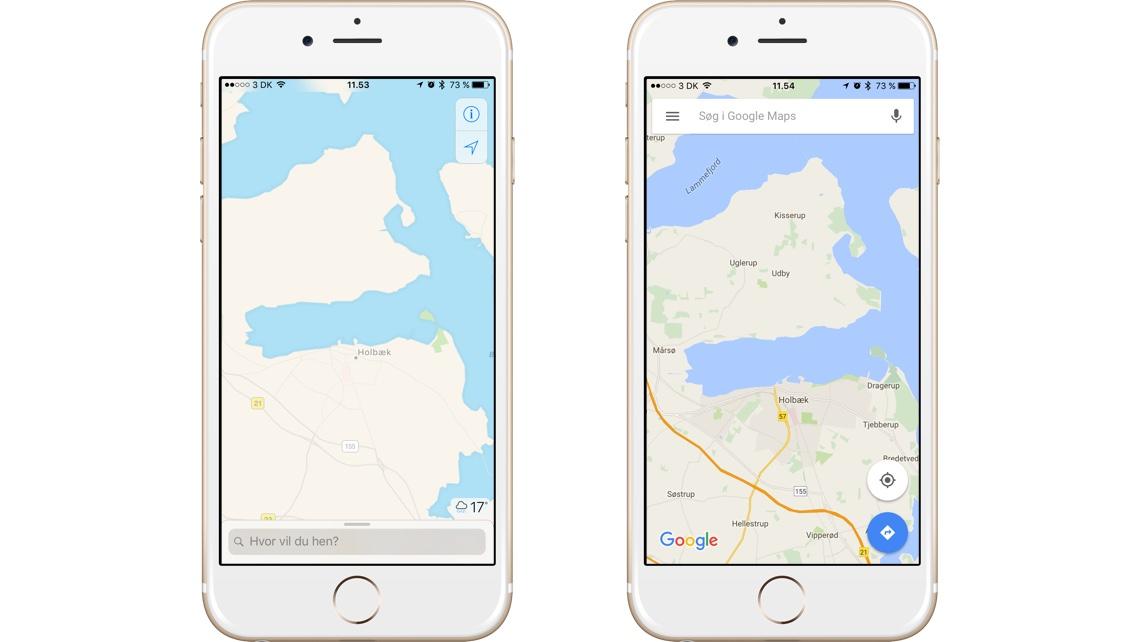Hvad Er Bedst Google Maps Eller Apples Kort