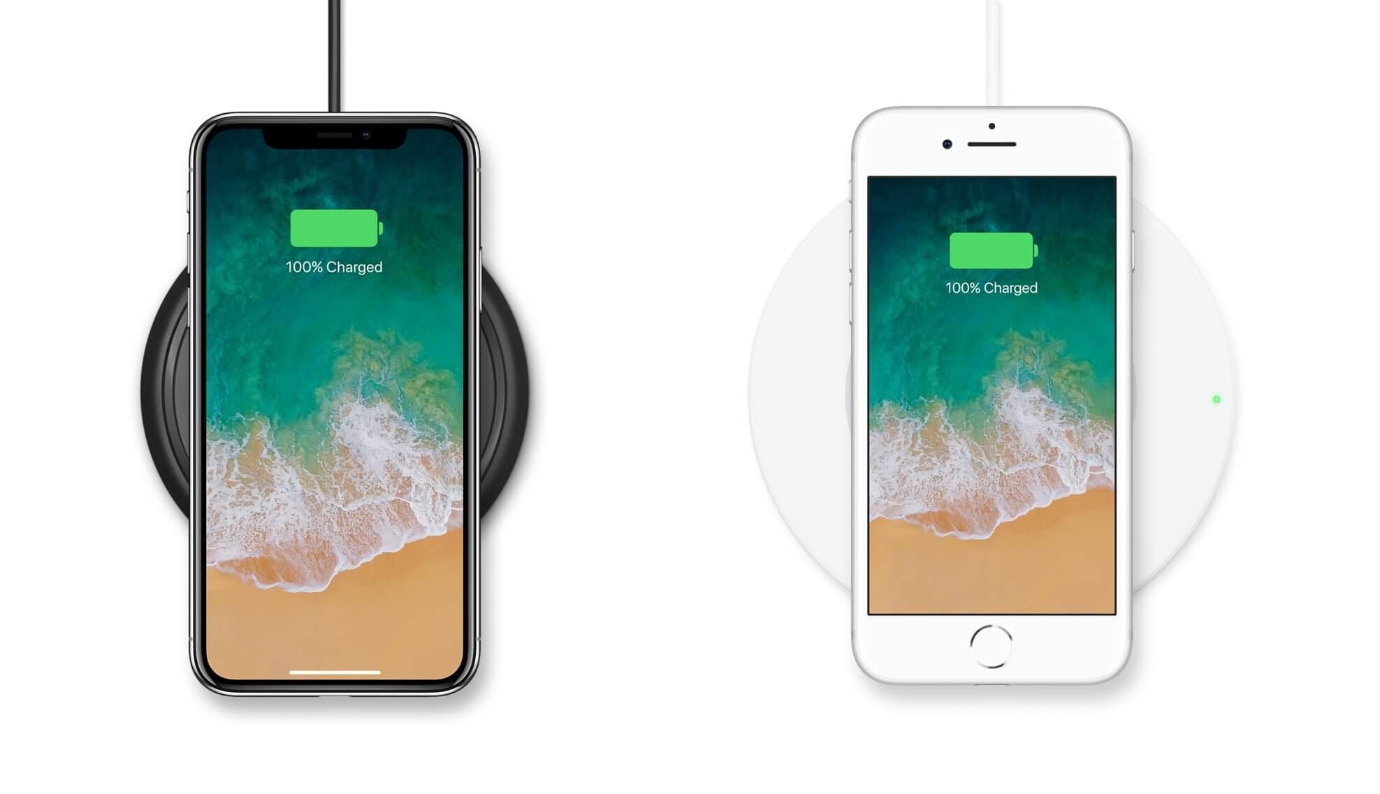 iPhone X med Belkin og Mophie trådløse opladere