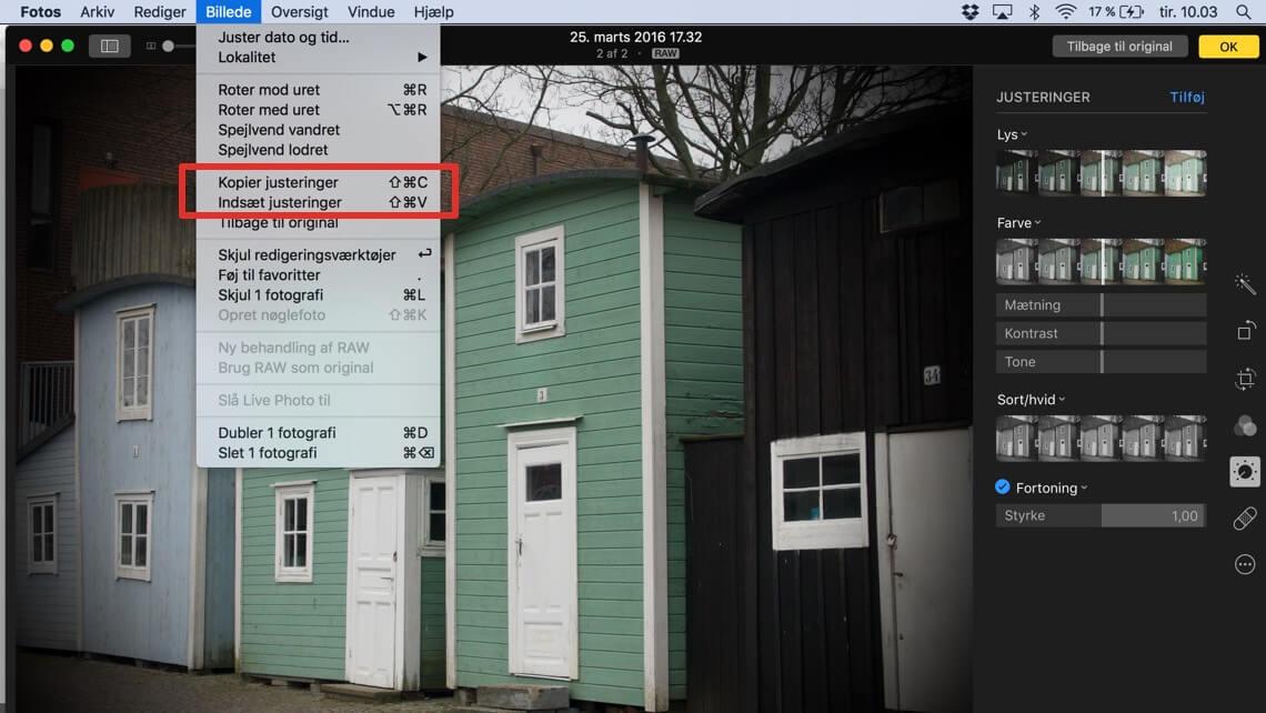 Tip Kopier Og Indsaet Fotojusteringer Pa Mac