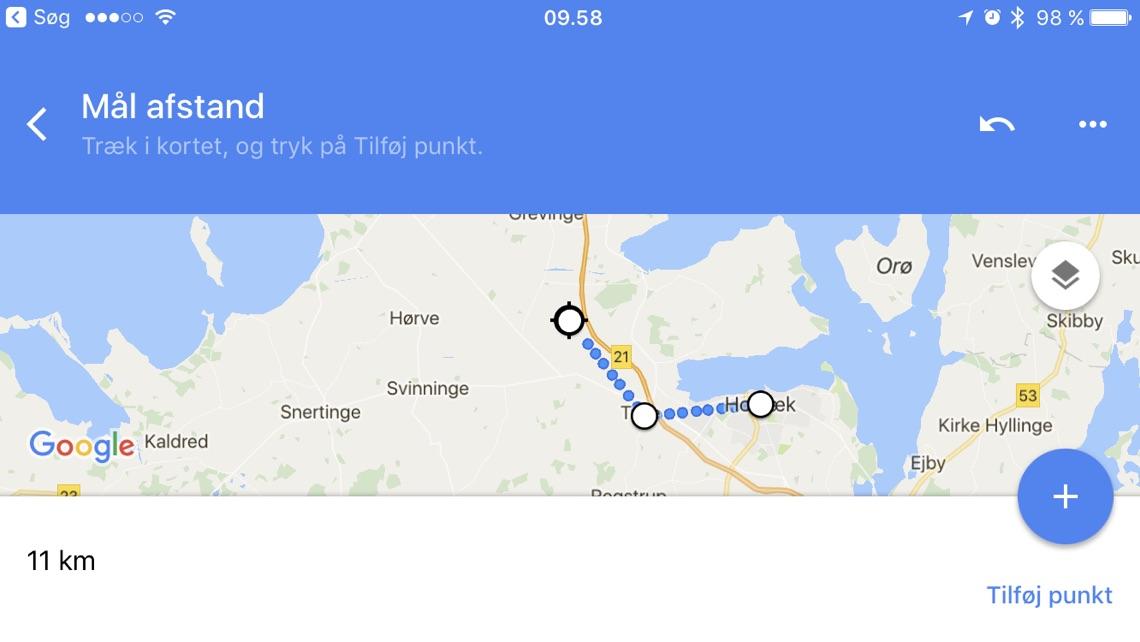 tip s dan m ler du afstande med google maps. Black Bedroom Furniture Sets. Home Design Ideas