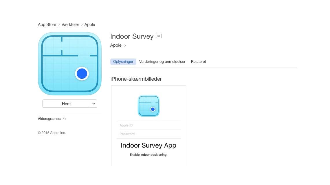 iTunes-screenshot: Indoor Survey