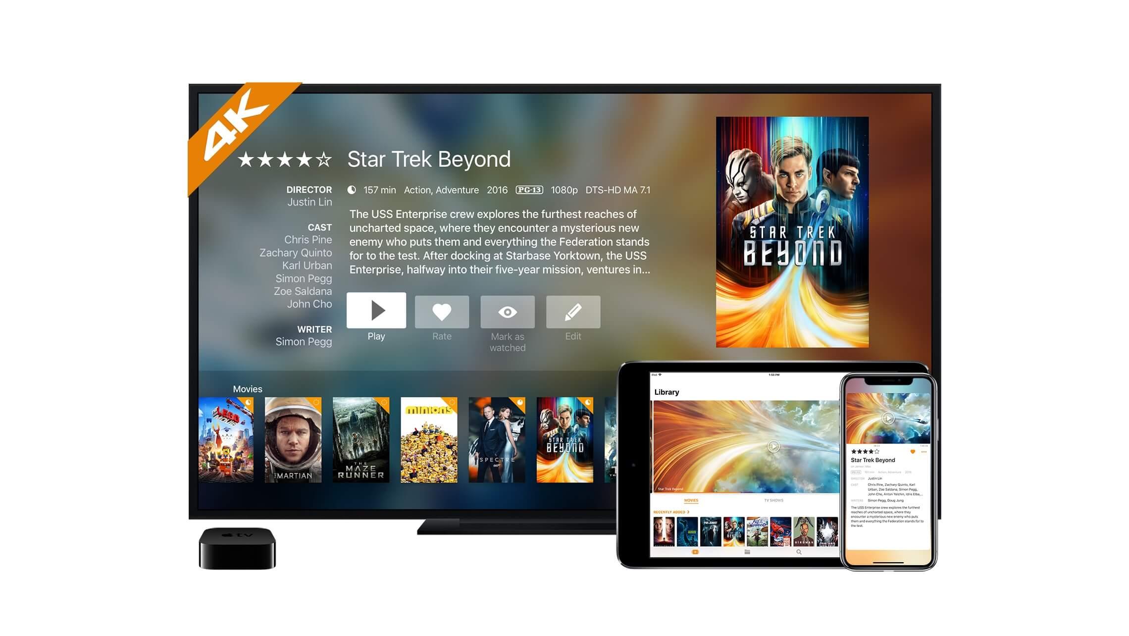 Plex og Infuse klar med bedre kvalitet på Apple TV |
