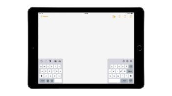 iPad med delt tastatur
