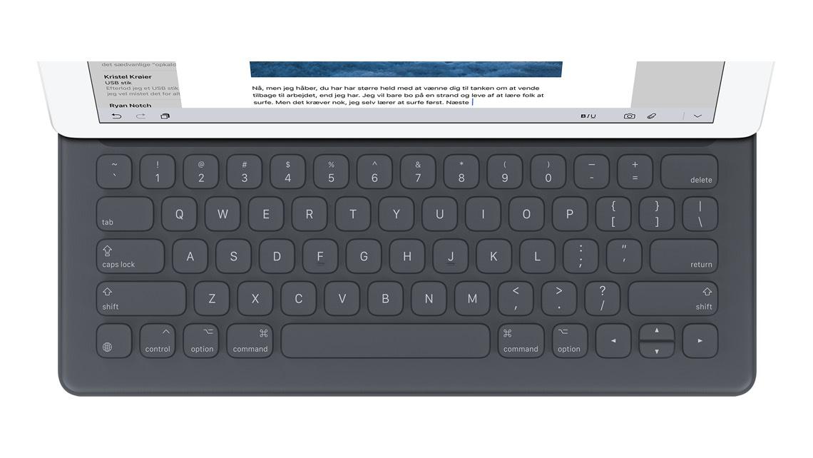 oversigt over tastatur