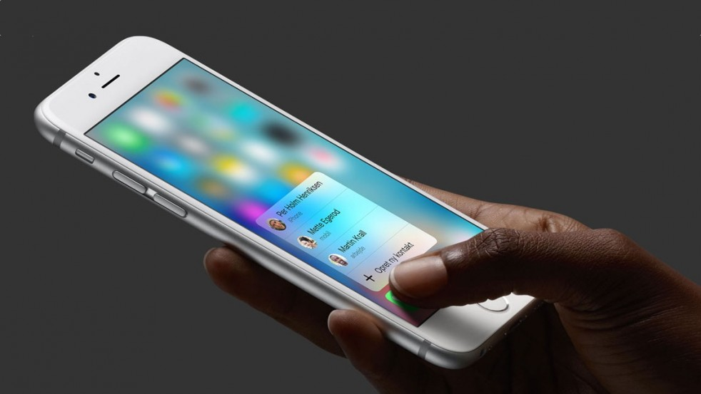 iPhone 6s med 3D Touch i jånd