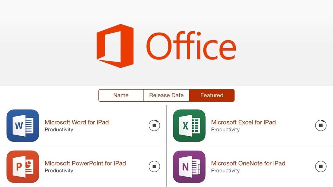 Microsoft lancerer Office-apps til iPad