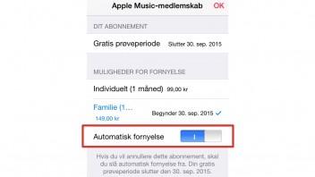 Sådan opsiger du dit abonnement på Apple Music