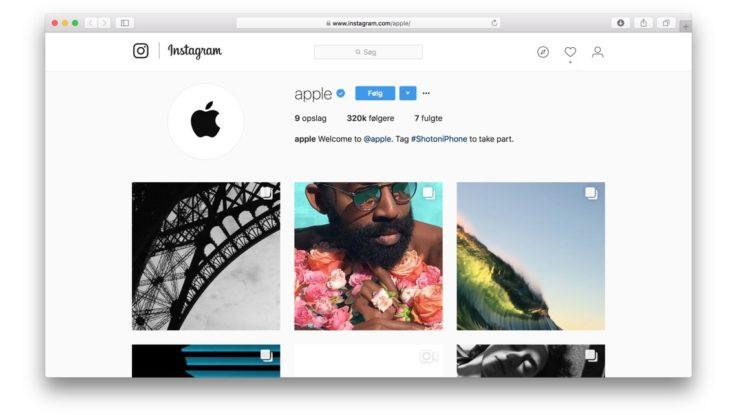 Apple er kommet p instagram - Er finestra mac ...