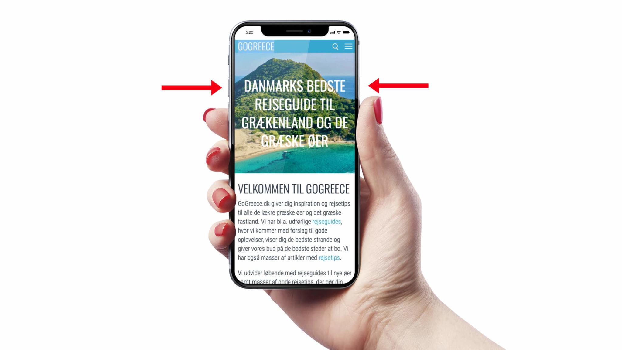 Sådan tager du screenshot på iPhonen