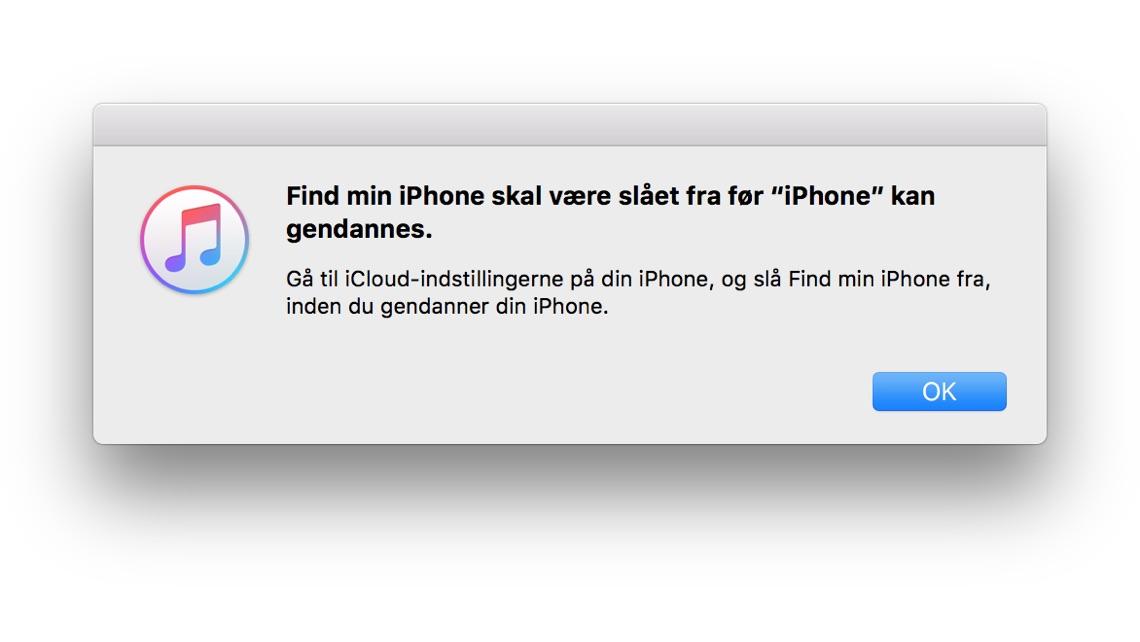 glemt adgangskode til iphone 4